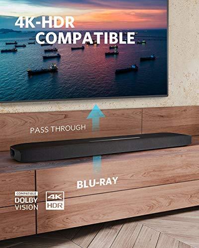 Soundcore Infini Pro Barra de Sonido, 2.1 Canales Integrados con Dolby Atmos y subwoofers incorporados, Sistema de Sonido Envolvente para TV, Transferencia de HDR 4K, HDMI ARC, Bluetooth 5