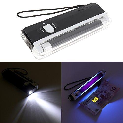 【Black Friday Deals】OriGlam Portable Handheld UV Black Light Torch, Blacklight UV Light Money Bill Detector Currency Banknote Checker Cash Security
