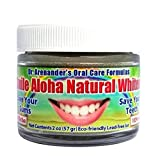 Gum Disease Help While You Whiten - Activated Charcoal Teeth Whitening Powder - Safe & Healthy - Use Daily - Organic - Helps: Reduce Gum Recession, Plaque, Inflammation - Smile Aloha Whitener
