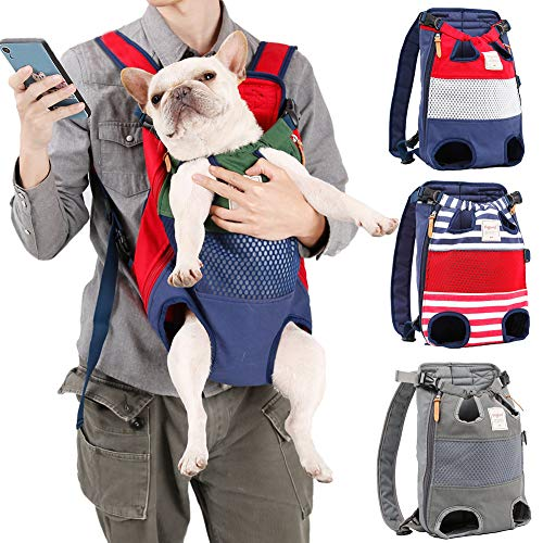 Coppthinktu Dog Carrier Backpack - Legs Out Front-Facing Pet Carrier Backpack for Small Medium Large Dogs, Airline Approved Hands-Free Cat Travel Bag for Walking Hiking Bike and Motorcycle