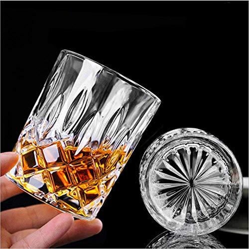 KUNORTH Whiskey-Glas, 300 ml, kristallklar, doppelt altmodisch, für Wodka, Bourbon, Whiskey, Cocktail, Scotch, Whisky, geeignet für Zuhause, Büro, Bar, 6 Stück