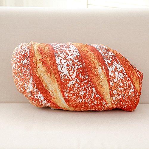 qingci Blame 3D Mock Brot Kissen Pizza Steak Lange Kissen. 40cm. Fleisch Brot.