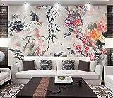 Wallpaper Wandbild Chinesische Begonie Blume handgemalte