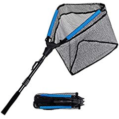 SECOND GENERATION FLOATING FISHING LANDING NET -A new floating net head. Two float tubes added to two of the three triangular sides which can provide buoyancy. With the added floats, there is no need to worry about the net sinking or getting dropped ...