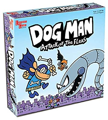 Dog Man Board Game Attack of The Fleas (Fuzzy Little Evil Animal Squad) by University Games Based On The Popular Dog Man Book Series by DAV Pilkey, Multi by University Games