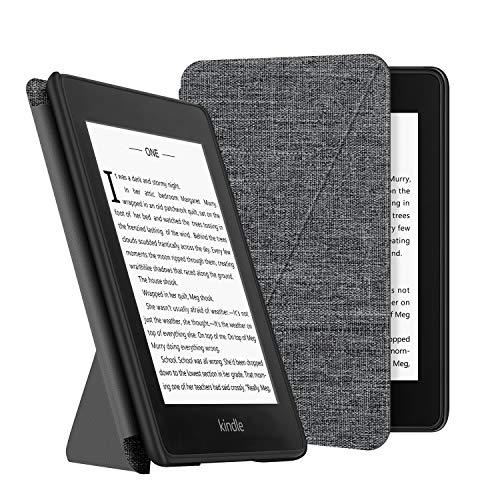 OLAIKE Estuche de Tela para Kindle Paperwhite (10a generación, Versiones 2018) E-Reader, Cubierta de pie Compatible con Lectura Manos Libres con activación/suspensión automática, Gris