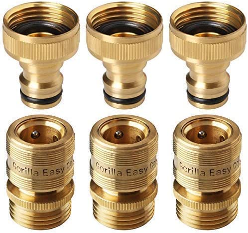 """Brass Quick Hose Pipe Joint Connector Male to Male 1//2/"""" Garden Pipe Extension JB"""