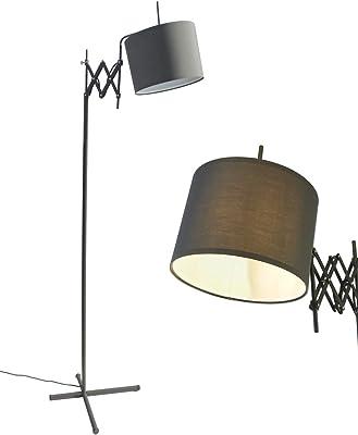 Marlowe Modern Floor Lamp Industrial Bronze Woven Iron And
