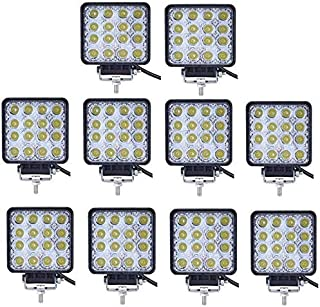 10PCS 80W Flood LED Work Lights Boat Car Truck Camping Square 4inch Bar Lamp AU