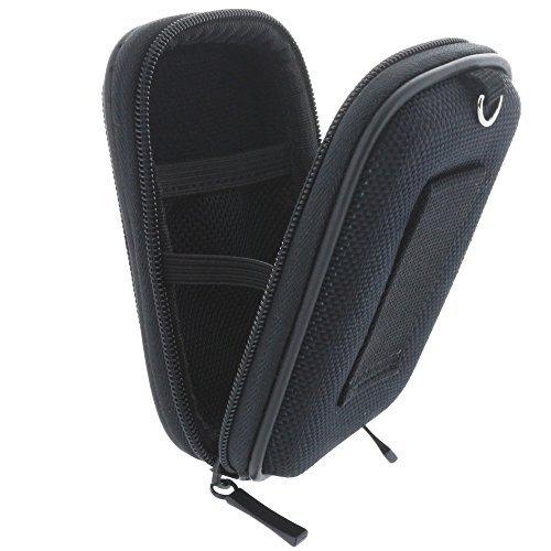 Kameratasche Hardcase für Kompaktkamera/Fahrrad Computer - Kamera Hülle/Tasche kompatibel mit Canon Ixus 175 180 185 190 - Garmin Edge 25/530 / 820 - Sony DSC W810 W830 WX220 WX350