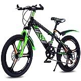 FLYFO Kinder Mountainbike 22 Zoll Unterschiedliche Geschwindigkeit Fahrrad MTB zum Jungen Mädchen Studenten Stoßdämpfendes Design Verbreiterter Kohlenstoffstahl Rahmen,A,22