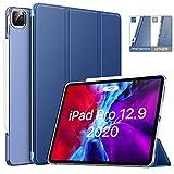 """MoKo Funda Compatible con iPad Pro 12.9"""" 2020/2018, Cubierta Trasera con Soporte Auto Sueño/Estela para iPad Pro 12.9 Inch 2020 4th Generación & 2018 - Azul Marino"""