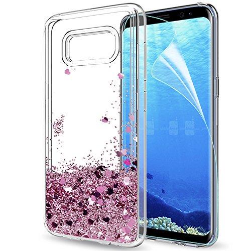 LeYi Funda Samsung Galaxy S8 Plus Silicona Purpurina Carcasa con HD Protectores...