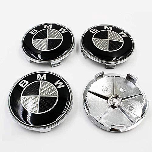 4 Piezas Cubo Rueda Cubierta Central para BMW, Polvo Insignia ModificacióN Estilo Cubierta Accesorio