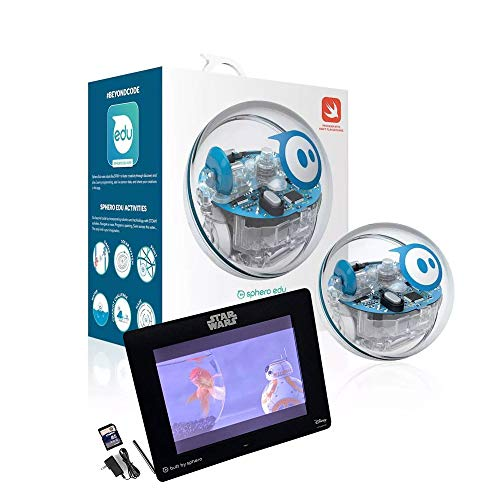 """SPRK Robot Ball with Programmable Sensors + 8"""" Digital Frame + 8GB SD Card - Educational Toy for Kids (Renewed)"""