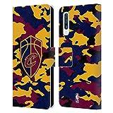 Head Case Designs Offizielle NBA Camouflage 2018/19 Cleveland Cavaliers Leder Brieftaschen Huelle kompatibel mit Samsung Galaxy A50/A30s (2019)