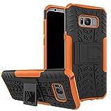 QiongniAN Funda para Samsung Galaxy S8+,Teléfono con Soporte a Prueba de Golpes Funda para Samsung SM-G955FD Galaxy S8+ / SM-G955U1 SM-G955F SM-G955D SM-G955W SM-G955U/N/J Carcasa Case Funda Orange