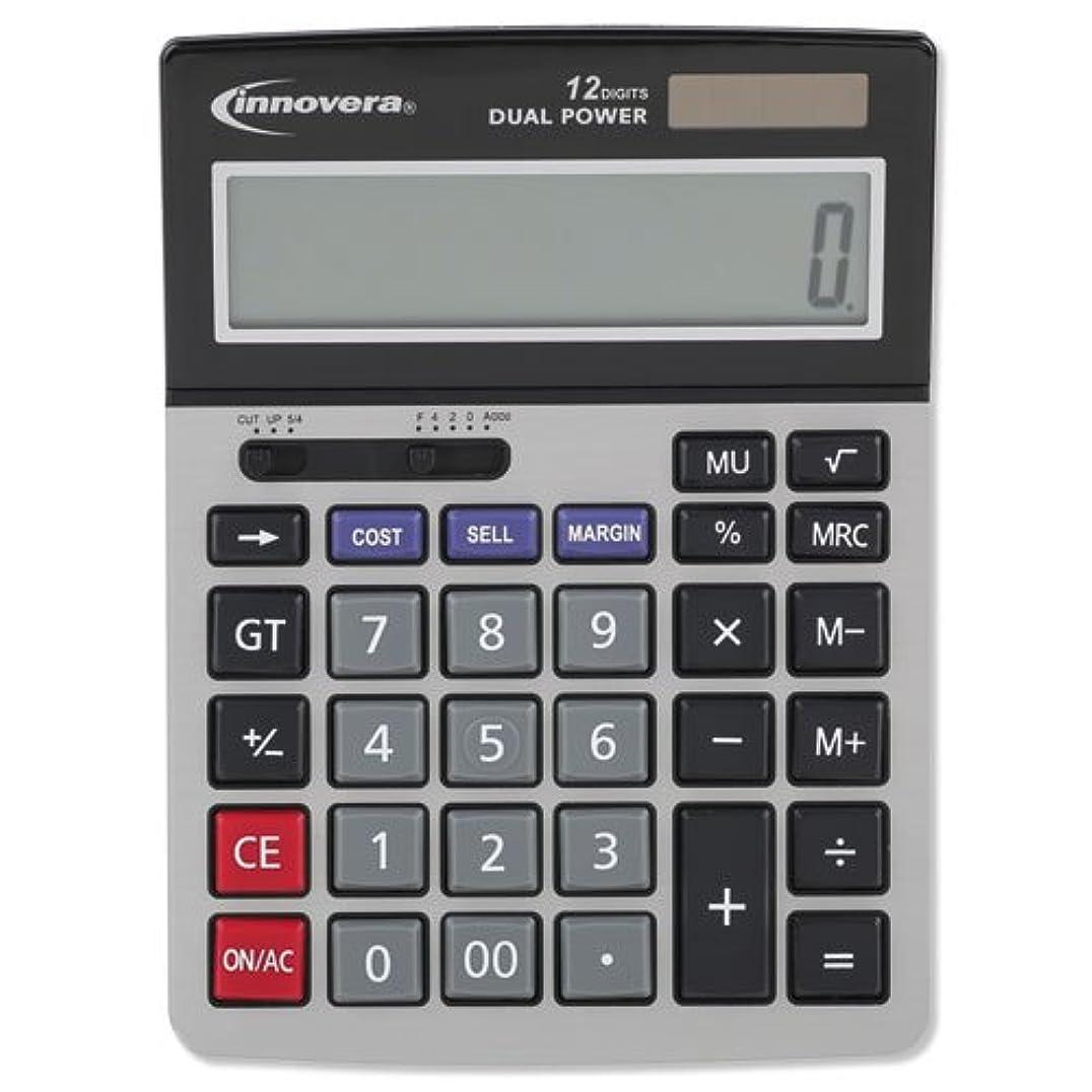 保存する囲いアジャInnovera 15966 Minidesk Calculator, 12-Digit LCD IVR15968