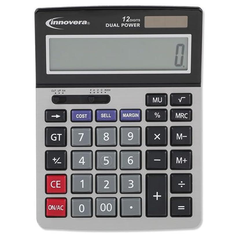 ヘクタール言うパーティションInnovera 15966 Minidesk Calculator, 12-Digit LCD IVR15968