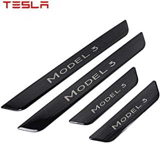 Stainless Steel For Kia Picanto 2013-2019 Threshold Cover Protection Trim Anti Scratch Guard Bumper HUAQIEMI 4Pcs Car Door Sill Scuff Kick Plates Protector Sticker