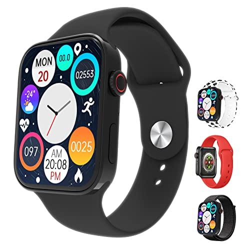 Watch 7 N76 Nuevo 2021 Sport Smart Watch 1,75' HD con 4 correas Bluetooth 5.2 Fitness Presión respuesta llamada notificación Password Wallet Carga inalámbrica IP67 App WearFit