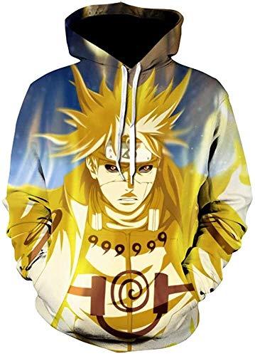 Sudadera con capucha unisex Naruto 3D Pullover Impreso Sudadera con capucha Hombres Mujeres Anime Fashion Casual Pullover Sudaderas con capucha con grandes bolsillos (Color : 2, Size : M)