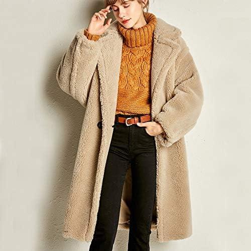 SHOUBANG Mantel Echter Schaffellmantel Für Frauen Beiläufiger Einfarbiger Teddy-Mantel Für Frauen Leopard-print-L