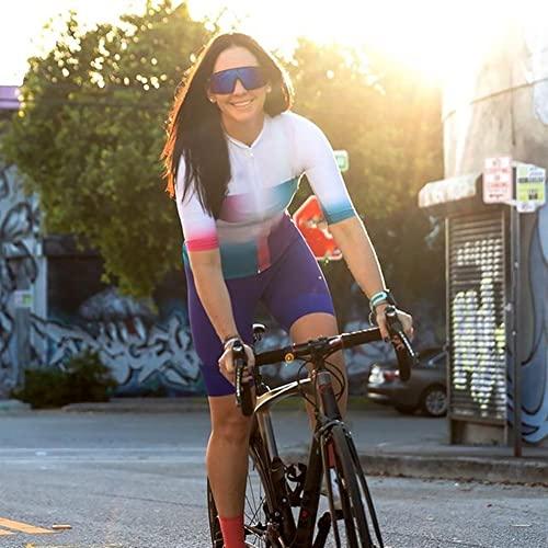 XJYWJ Maglia da ciclismo da donna, abito da donna Triathlon, abiti da ciclismo a maniche corte, tuta in bicicletta in mountain bike Triathlon (Color : 19, Size : XS)