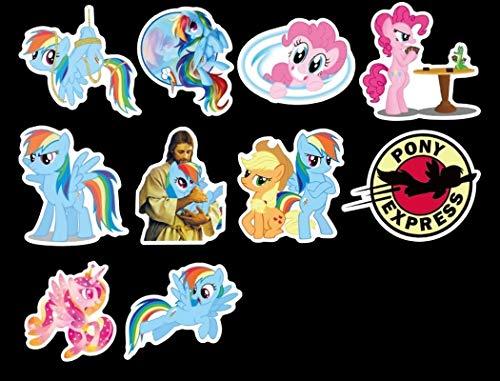 YGBV My Little Pony Cartoon Animal Impermeabile Carino Graffiti Sticker Fai da Te Valigia Bicicletta Laptop Skateboard Chitarra Decal Sticker50pcs