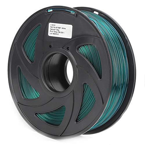 3D Printer Filament, 1.75mm Diameter 35.3oz PLA Filament Bundle Long Transparent Green Printing Material Consumables Accuracy +/- 0.05 mm Spool for Most Printer