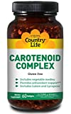 Country Life Carotenoid Complex with Lutein, Lycopene and Astaxanthin, 60 Softgels, Antioxidant Support