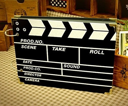 DISOK Album De Fotos Claqueta de Cine Scrap Retro Film - Albumes...