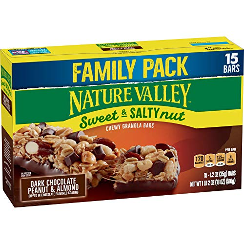 Nature Valley Sweet & Salty Nut Dark Chocolate Peanut & Almond Granola Bars 15ct