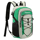 Piscifun Insulated Cooler Backpack, Leakproof Lightweight Cooler Bag, Soft Backpack Cooler for Men and Women Bag Cooler for Lunch, Picnic, Fishing, Hiking, Camping,Park, Day Trip Gray & Green