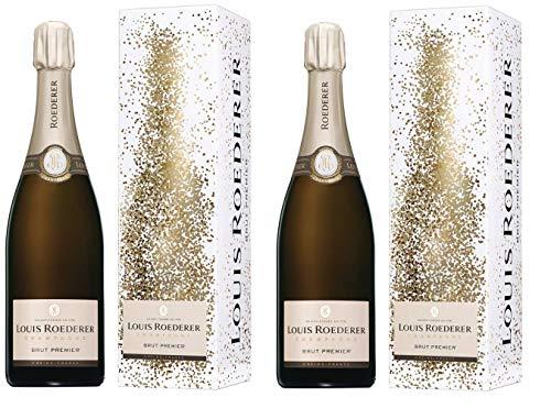Champagne Louis Roederer Champagner aus Frankreich 2er Sparpack Brut Premier Design Kollektion (2 x 0,75 Liter)