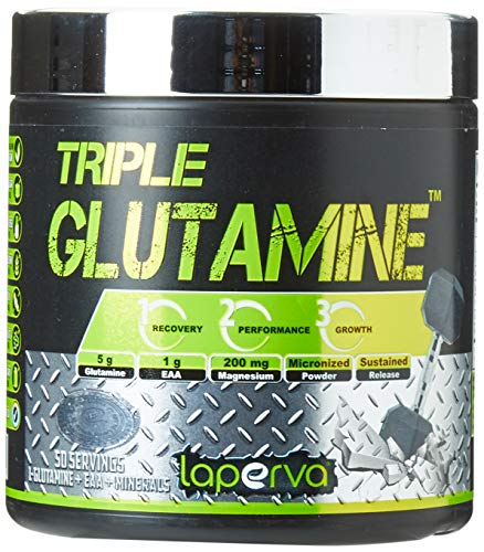 LAPERVA Triple Glutamine Amino Acid Powder for Faster Rebuild and Recovery 50 Servings