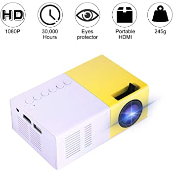 Excelvan YG300 - Mini LED Proyector Portátil(300x240P, 4: 3 16: 9 ...