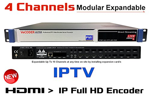 Great Features Of VeCODER HD4 - Four Channels H.264 Live HDMI Video Encoder, Full 1080p RTMP IPTV En...