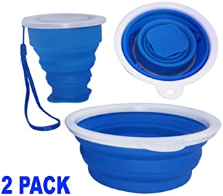 Collapsible Bowls Perfect for Camping and Caravaning Folding Bowl Set