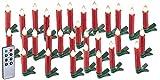 Lunartec Baumkerzen: 30er-Set LED-Weihnachtsbaum-Kerzen mit IR-Fernbedienung, rot (Kabellose Christbaumkerzen)