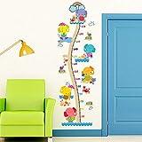 Elefante Familia Crecimiento Etiqueta de la pared Habitación de los animales Habitación de los niños Regla de altura Habitación de los niños Etiqueta de la fiesta de jardín de infantes 60 * 90 cm