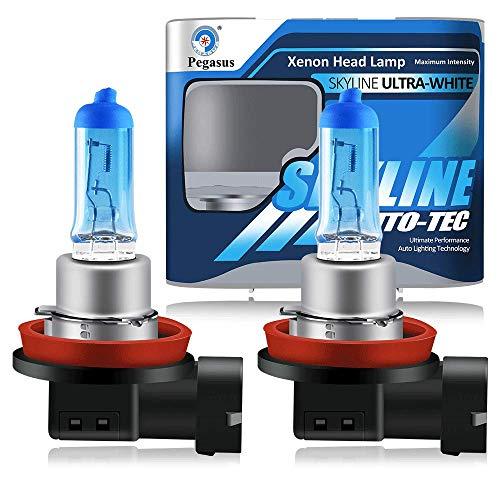 H11 12V 55W 5000K Lampadine Alogene Xenon Super Bianche ad Alta Potenza Per Lampada Auto - Fendinebbia Luce Di Marcia Diurna DRL (2 pezzi)