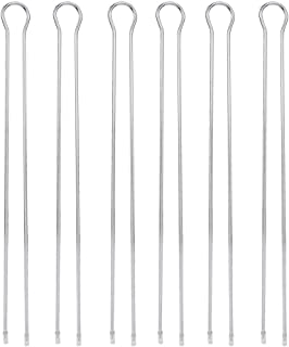 メタルBBQグリルスティック-6個のU字型メタルBBQグリルフォークスティックスキューワーBBQグリルセット屋外ピクニックキャンプバーベキュー用