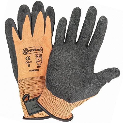 Gummierte Handschuhe
