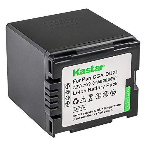 Kastar Battery Replacement for Panasonic CGA-DU21 CGA-DU21A/1B CGR-DU06 CGR-DU07 CGA-DU06 CGA-DU07 CGA-DU14 CGA-DU14A/1B CGR-DU21 CGR-DU14 Battery Cga Du14 Lithium Ion Battery