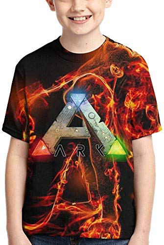 Rogerds Youth Teen Boy's Girl's Shirts ARK-Survival-Evolved Tee T Shirt Short Sleeve Tshirt Fan Clothes for Teens Boys Girls