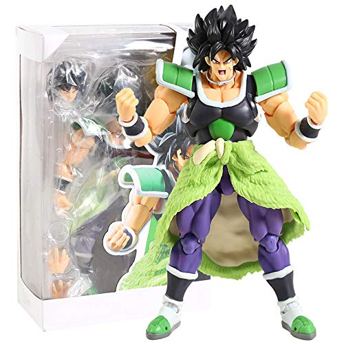 Qwead Dragon Ball Super SHF Broly Action Figures DBZ Goku Broly Figurine Giocattoli Modello in PVC 20 Cm