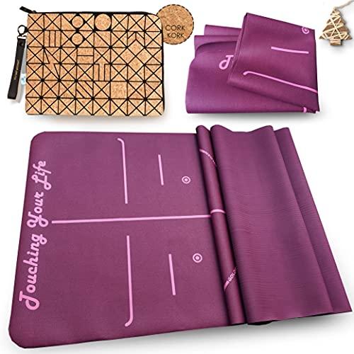 GOLDEN Yogamatta halkfri ultra lätt och tunn, gjord av färgat gummi föroreningsfritt, resa...