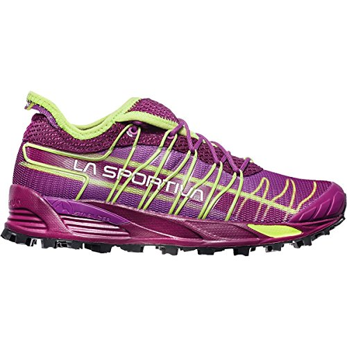 La Sportiva Women's Mutant Backcountry Trail Running Shoe, Plum/AppleGreen, 39