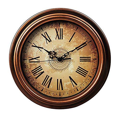 Topkey Reloj de Pared de 30cm Retro Silencioso para Sala de Estar, Cocina, Dormitorio, Oficina - Marrón